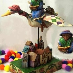 Jim Shore - Mother Goose Riding on Goose